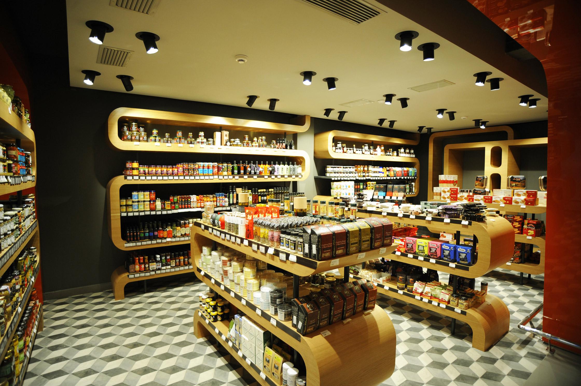 Interior Design Of Super Market Flora In Mykonos